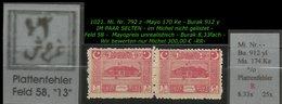 EARLY OTTOMAN SPECIALIZED FOR SPECIALIST, SEE...Mi. Nr. 792 Z - Burak 912 Yl -RR- - 1921-... República