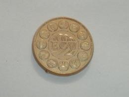 Pin's PIECE DE 1 ECU 1992, Signe CLUB FRANCAIS DE LA MONNAIE - Badges