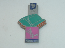 Pin's J.O. LILLEHAMMER 94, HOCKEY SUR GLACE, HAKONS HALL - Olympic Games