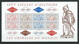 MONACO 1997 . Bloc Feuillet N° 75 . Neuf ** (MNH) . - Blocs