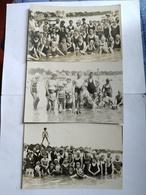 CARTE PHOTO X 3 -  Années 30 - GROUPES DE BAIGNEURS - LE POULIGUEN - Le Pouliguen