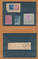 402A/29 - AGENCES De LIEGE - Bel Ensemble De 10 Cachets à Etoiles Divers Sur Timbres-Postes Et Documents - Poststempels/ Marcofilie