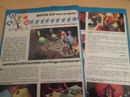 SPI2019 Issu De SPIROU 1975/76 / MISTER KIT Présente : DOUBLE PAGE / LE VILLAGE SCHTROUMPF - Revues