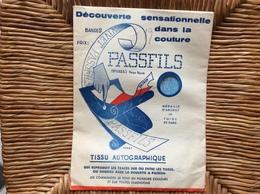 COUTURE *TISSU AUTOGRAPHIQUE  Passfils  MÉDAILLE D'ARGENT  Foire De Paris  H. VIVET - Creative Hobbies