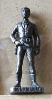MONDOSORPRESA, (SLDN°59) KINDER FERRERO, SOLDATINI IN METALLO FAMOSI COWBOY SERIE 2 85/93 DOC HOLLIDAY  BRUNITO - Figurine In Metallo