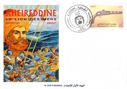 DZ 1745 Algeria Corsair Turkish Mediterranean Arms Ships Ottoman Famous Barberousse - Militaria