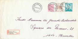 403/29 - AGENCE BRUXELLES 53 - Cachets à Etoiles Sur Lettre Recommandée 1970 - TP Lunettes Et Elstrom - Poststempels/ Marcofilie