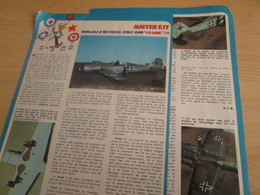 SPI2019 Issu De SPIROU 1975/76 / MISTER KIT Présente : DOUBLE PAGE A4 / DIORAMA FW 190-D CRASHE - Revues