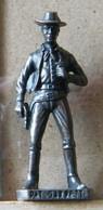 MONDOSORPRESA, (SLDN°59) KINDER FERRERO, SOLDATINI IN METALLO FAMOSI COWBOY SERIE 2 85/93 PAT GARRET  BRUNITO - Figurine In Metallo