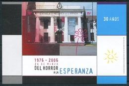 DEL HORROR A LA ESPERANZA, 24 DE MARZO 1976-2006. ARGENTINA JALIL HB 170 HOJA BLOCK TBE MNH. DICTADURA MILITAR - LILHU - Militares