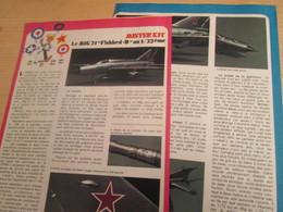 SPI2019 Issu De SPIROU 1975/76 / MISTER KIT Présente : DOUBLE PAGE A4 / MIG 21 FISHBED D AU 1/32e - Revues