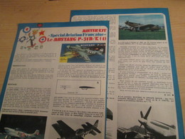 SPI2019 Issu De SPIROU 1975/76 / MISTER KIT Présente : DOUBLE PAGE A4 / MUSTANG P-51D/K FRANCAIS - Revues