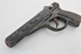 Vintage TOY GUN : TIN TOY KING GUN With EMAIL PIECE - L=19.0cm - 1950s  - Keywords : Cap - Rifle - Revolver - Pistol - Armes Neutralisées