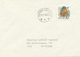 404/29 - AGENCE JEMEPPE Sur MEUSE 11 - TP Buzin Cachets à Etoiles Sur Lettre 1986 Vers GRIVEGNEE - Poststempels/ Marcofilie
