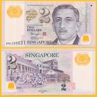 Singapore 2 Dollars P-46i 2016 (two Stars On Back) UNC Polymer Banknote - Singapur