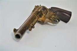 Vintage TOY GUN :  ITALIAN REVOLVER - L=23.0cm - 19**'s - Keywords : Cap - Cork Gun - Rifle - Revolver - Pistol - Tin - Armas De Colección