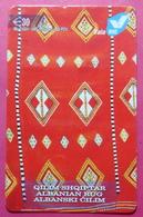 Kosovo Prepaid Phonecard, 30 Euro. Operator VALA, *Old Carpet*, Serial # 19......Third Edition - Kosovo