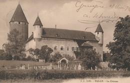 Bulle 1916 - Le Chateau (cachet Internement Des Prisonniers De Guerre Gruyères Suisse) - FR Fribourg