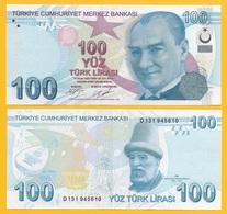 Turkey 100 Lira P-226c 2009 (2017) UNC - Turkey