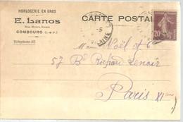 CARTE POSTALE  COMBOURG  1921 - Brieven En Documenten