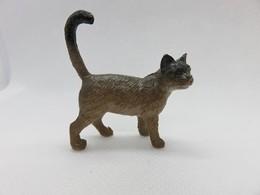 193 - Figurine Chat Type Asian Ou Autre - Marron Dégradé - Chats