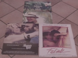 LOT 3 AFFICHES CINEMA FILMS Louis MALLE FATALE ALAMO BAY MILOU DE MAI PICCOLI MIOU MIOU BINOCHE IRONS HARRIS - Affiches & Posters
