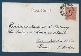 Oblitération COLOMBO Sur 10c Semeuse Lignée - Postmark Collection (Covers)