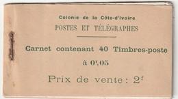 COTE D'IVOIRE - CARNET N°1  Obl (1915) 5c Vert-jaune Et Vert - Costa De Marfil (1892-1944)
