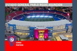 Cp;stade De Football.    ASUNCION   PARAGUAY   ESTADIO  GENERAL  PABLO  ROJAS         # CS.721 - Football