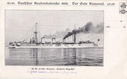 "Grand Croiseur Allemand "" Kaiserin Augusta "" En 1908 - Warships"