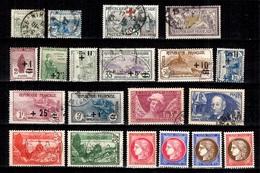 France Belle Petite Collection De Bonnes Valeurs 1900/1938. B/TB. A Saisir! - France