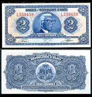 HAITI # 231A 2 GOURDES Of 1979 UNC - The WORLD'S 1st TYVEK NOTE PICK POLYMER - Haïti