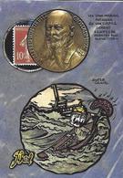 CPM Timbre Monnaie Jihel Tirage Limité En 30 Exemplaires Numérotés Signés Tirpitz Miroir Aux Alouettes - Monete (rappresentazioni)