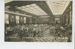 """BATEAUX - PAQUEBOTS - Le Paquebot """"ILE DE FRANCE """" - Le Grand Salon - 1ère Classe (cachet Au Dos ) - Steamers"""