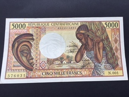 CENTRAL AFRICAN REPUBLIC P12 5000 FRANCS XF- - Repubblica Centroafricana