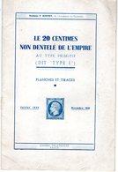 Le 20 Centimes Non Dentelé De L'empire - Dr BOUVET - 1946 - Specialized Literature