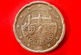 SLOVACCHIA - 2009 - Moneta - Castello Di Bratislava - Euro - 0.20 - Slovakia