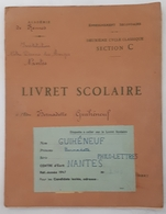 Nantes - Livret Scolaire GUIHENEUF Bernadette - Philo-Lettres 1947 - Timbres Taxes - 18+ Years Old