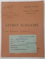 Nantes - Livret Scolaire GUIHENEUF Bernadette - Philo-Lettres 1947 - Timbres Taxes - Livres, BD, Revues