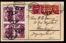A6259) DR Infla Karte Celle 31.01.23 N. Hamburg M. 4er-Block Mi.115c Ua. Gepr. Infla - Briefe U. Dokumente