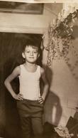 Vintage Original Photo  - Petit Garçon - Little Boy In A Shirt, 1970s - Anonymous Persons