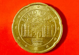 AUSTRIA - 2008 - Moneta - Palazzo Del Belvedere - Euro - 0.20 - Austria