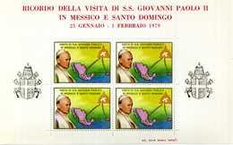 ERINNOFILIA / Visita S.S.Giovanni Paolo II In Messico E Santo Domingo 1979 - Vignetten (Erinnophilie)