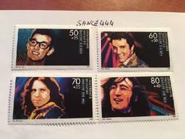 Germany Pop Musicians 1988 Mnh - [7] Federal Republic