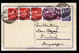 A6261) DR Infla Karte Singen 24.05.23 N. Durlach M. Mi.115e Ua. Gepr Infla + BPP - Storia Postale