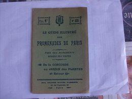 Le Guide Illustré Des Promenades De Paris N° 2 De La Concorde Au Jardin Des Plantes - Karten