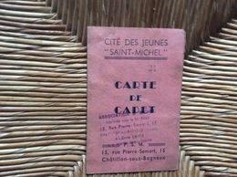 CARTE DE CADET Cité Des Jeunes «Saint-Michel» CHATILLON-sous-BAGNEUX - Religion & Esotericism