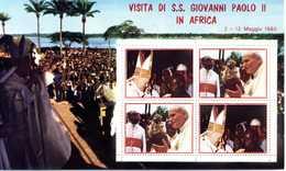 ERINNOFILIA / Visita S.S.Giovanni Paolo II In Africa 1980 - Vignetten (Erinnophilie)