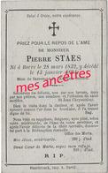 En 1894  Borre  (59) Pierre STAES  Né En 1832 - Obituary Notices