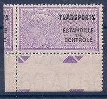 FRANCE - TRANSPORTS 13Aa FILIGRANE AT 60 NUMERO AU VERSO NEUF** LUXE MNH COTE 30 EUR - Fiscaux